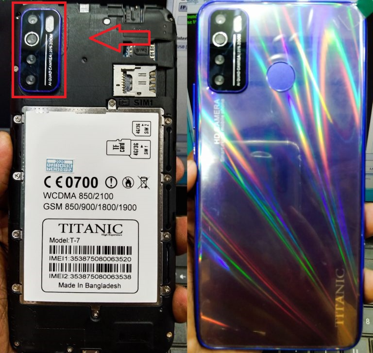 Titanic T-7 Flash File ALL Android MT6580